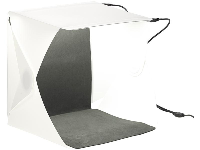 studio photo professionnel 23 x 23 cm clairage led 20 w 400 lm. Black Bedroom Furniture Sets. Home Design Ideas